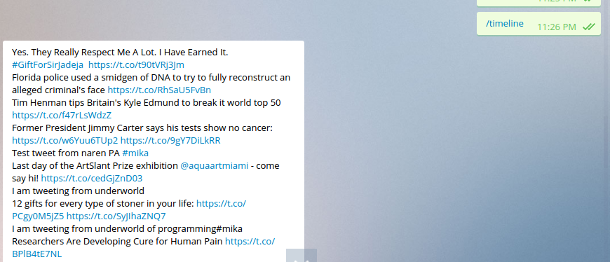 Building a Virtual Personal Assistant with Telegram app and